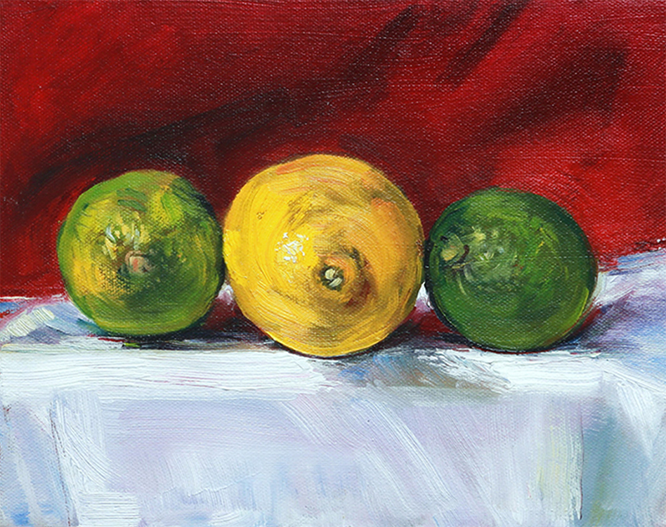 Limes and Lemon by David Hopkins