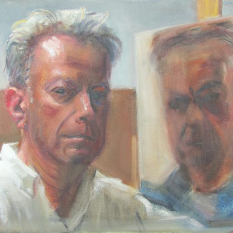 Double Self Portrait 2017 by David Hopkins